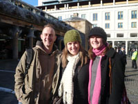 Photo of three friends in Covent Garden