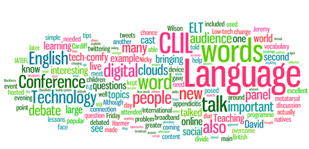 IATEFL article word cloud