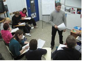 A teacher development workshop at Blue Door