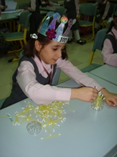 Young Emirati girl engaged in an English lesson