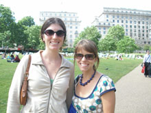 Photo of two girls in Green Park