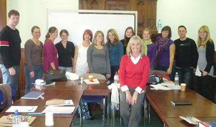 Lesley Duffin and her Level 2 class
