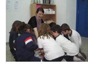Teaching children at Blue Door