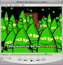 MTunes screenshot_The aliens are coming